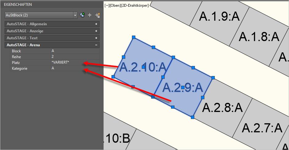 Alternative Dateneingabe über die Eigenschaften-Palette
