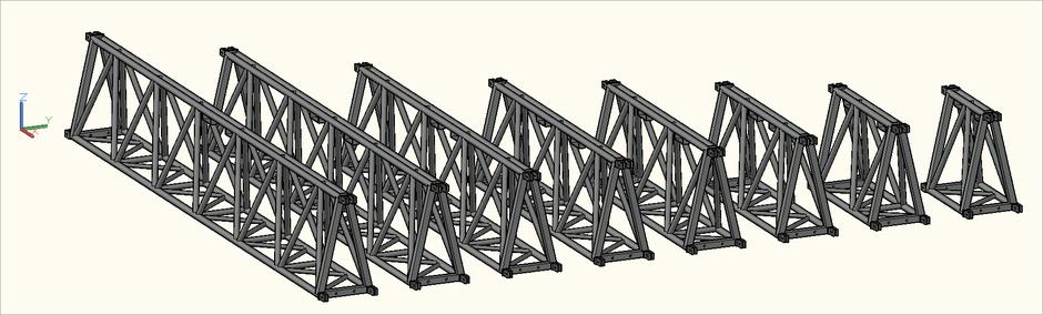 3D-Ansicht der S-M1010 Trio (S-FTD) Traversen in der Zeichnung