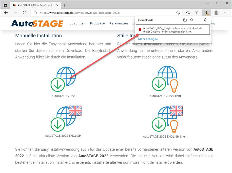 Sicherheitsabfrage des Browsers bestätigen