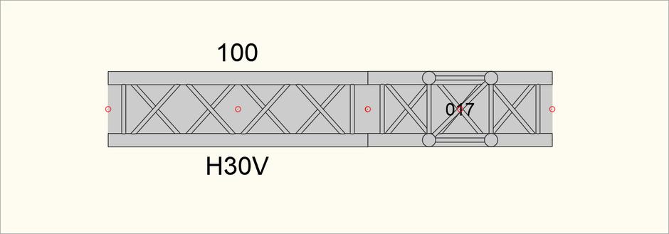 Bild 2 - Ansicht der zusammengesetzen Traversen nach dem Einfügen