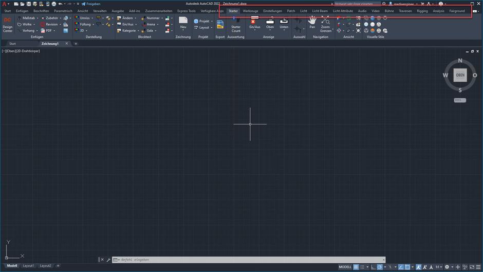 AutoCAD 2022 nach der Installation von AutoSTAGE App