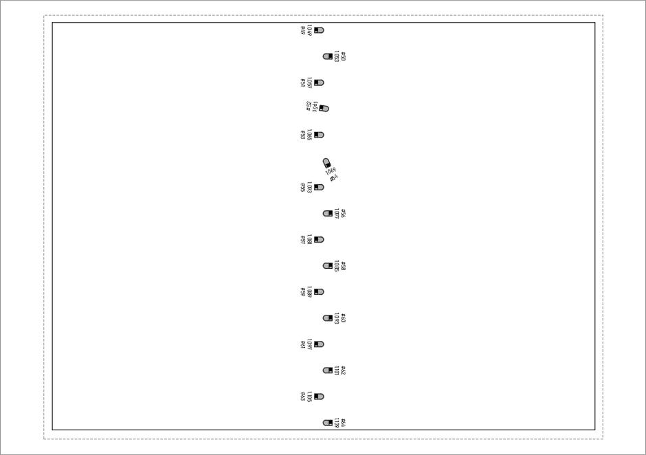 Vertikaler Zeichnungsinhalt in horizontalem Ansichtsfenster in einem Layout