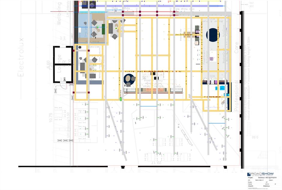Elektrolux IFA Berlin 2019, geplant mit AutoSTAGE