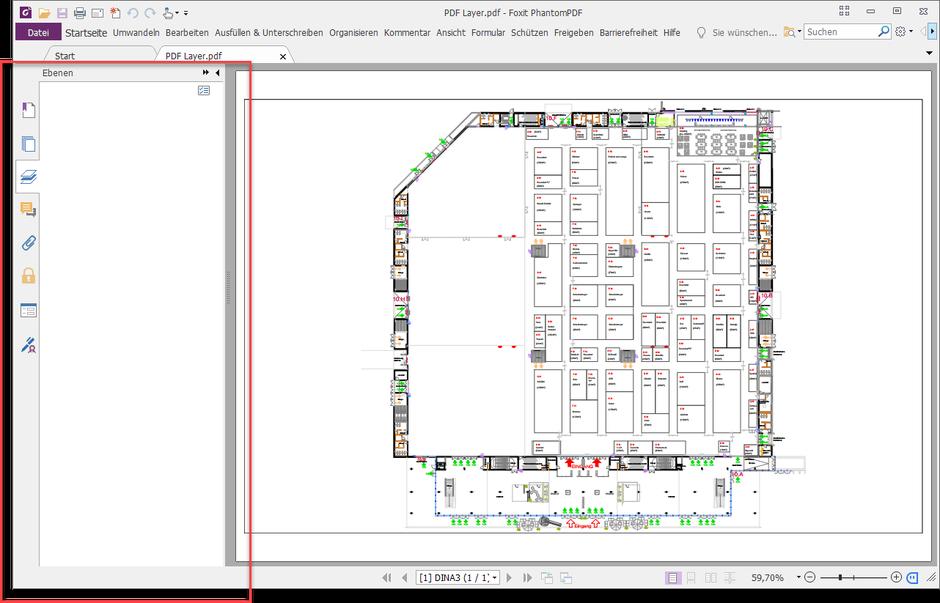 Ansicht der PDF-Datei mit unterdrückten Ebenen