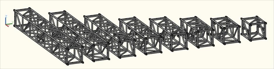 3D-Ansicht der S-M780 Quadro (S-QTQT) Traversen in der Zeichnung
