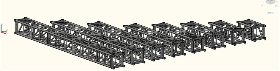 3D-Ansicht der S-M530 Quadro (S-QTPT) Traversen in der Zeichnung