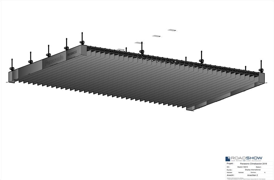Panasonic Climatizacion Madrid 2019 - 3D Ansicht Unten, geplant mit AutoSTAGE