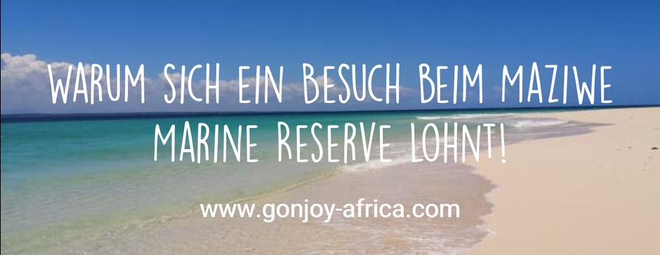 Maziwe Marine Reserve Tansania