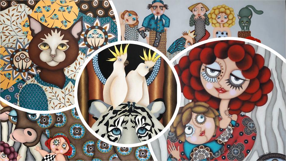 Tableau artiste peintre Nantes - Tous les tableaux de Stéphanie Le Pitre - art naïf - contemporain - figuratif