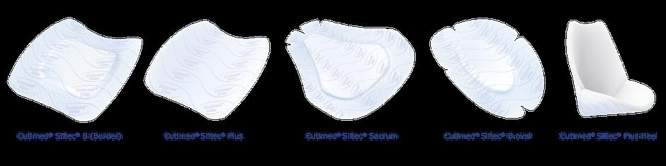 Cutimed Siltec Produkte aufgelistet. Cutimed Siltec B, Cutimed Siltec Plus, Cutimed Siltec Sacrum, Cutimed Siltec Oval, Cutimed Siltec Plus Heel