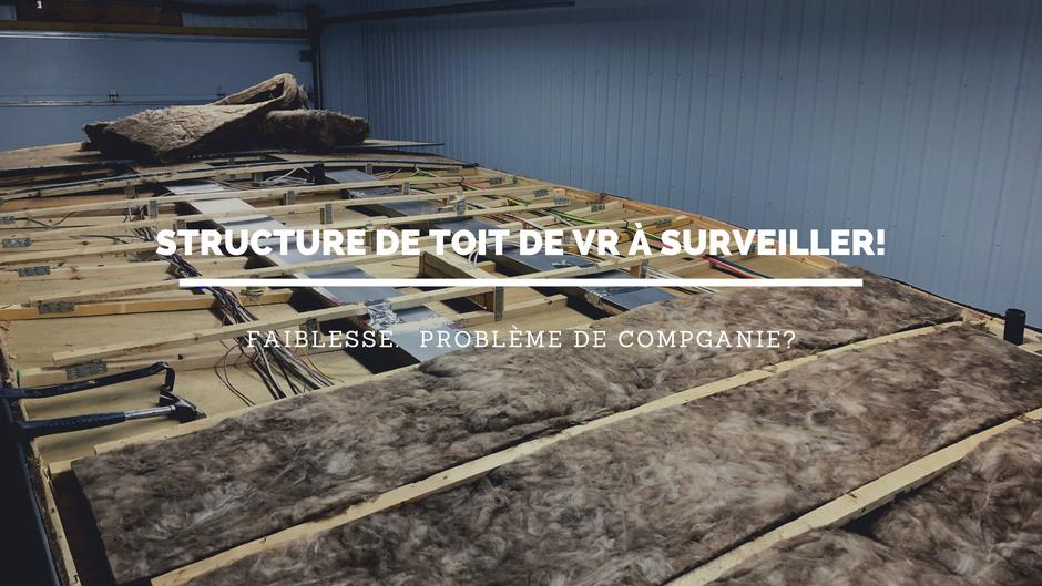 Structure de toit de vr à surveiller! Toit de fifth wheel, toit de roulotte, toit de motorisé.