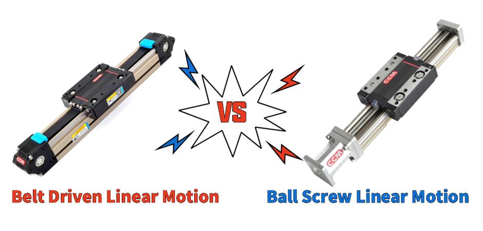Belt Driven Linear Motion versus Ball Screw