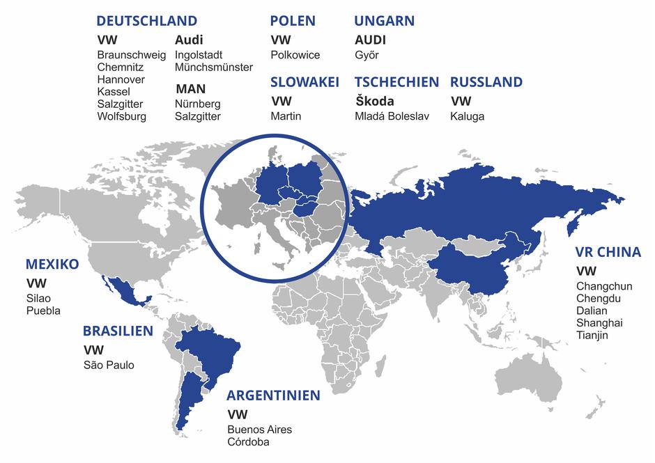 Weltkarte mit Vertrieb Ländern von IBS Werkzeugmaschinen