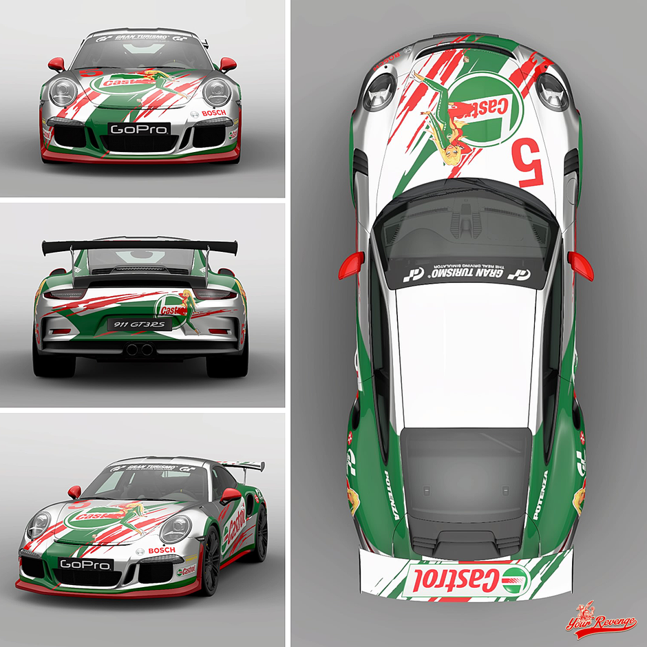 "PORSCHE 911 GT3 RS MOD. 16 ""CASTROL"" by Your Revenge"