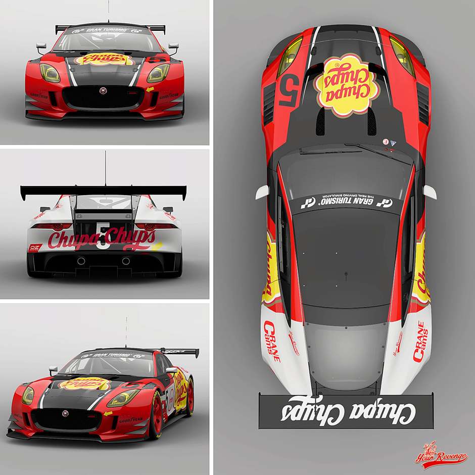 Jaguar F-Type Chupa Chups by Your Revenge