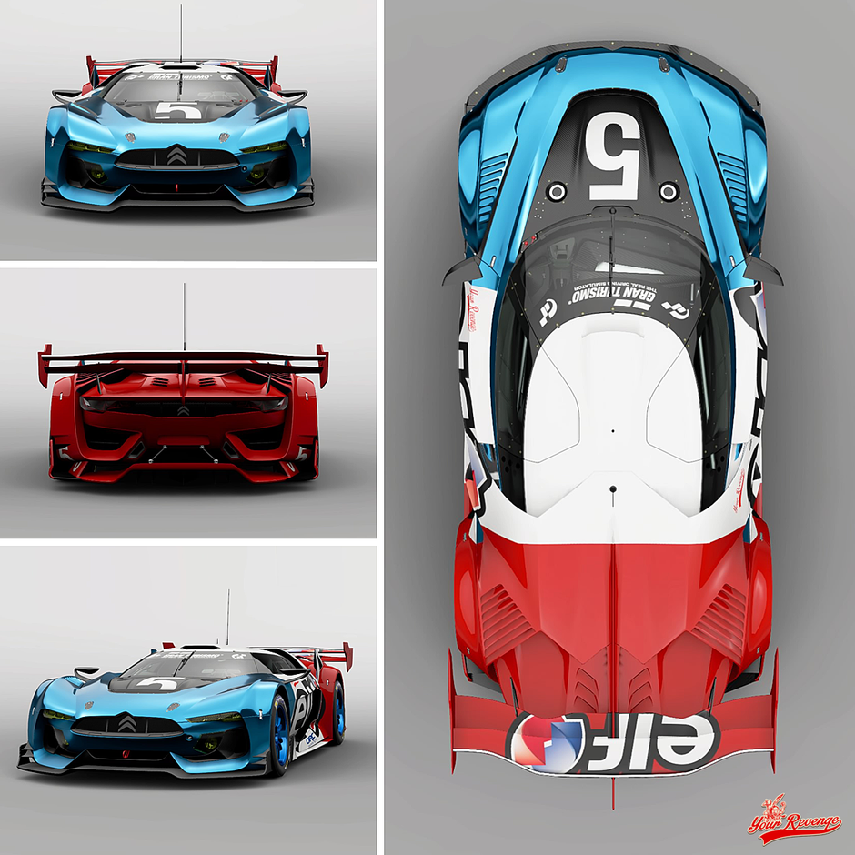 "GT by Citroen Race Car ""Elf"" by Your Revenge"