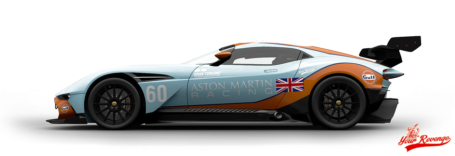 "Aston Martin Vulcan Mod. 16 ""Gulf"" by Your Revenge"