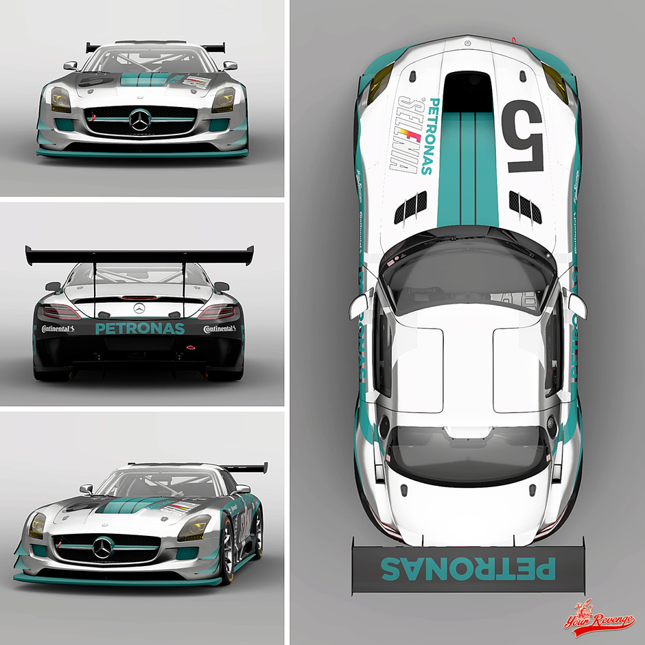 "Mercedes Benz SLS AMG GT3 ""Petronas"" by Your Revenge"