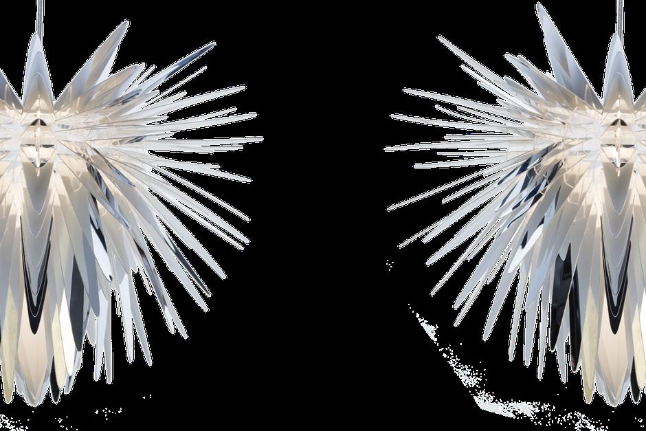 Designerska lampa wisząca, abażur Burst w kolorze srebrnym oraz złotym
