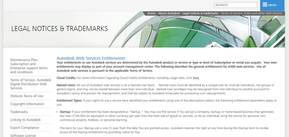 Fusion 360 のスタートアップ条件はAutodesk社の公式サイトで確認できます。