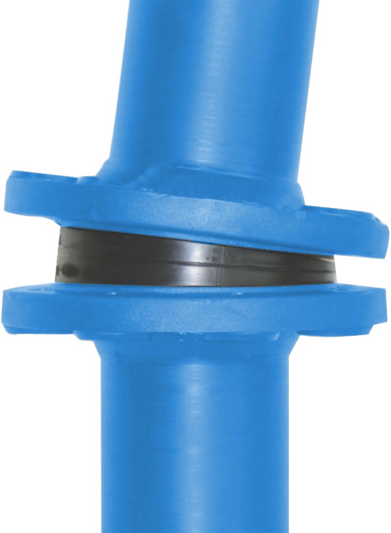 Flanschverbindung, Zwischenstück, Distanzstück, Keilring, Gummi, Stahl, Flanschdichtung, RSG-V, G-ST-Keilring, EPDM