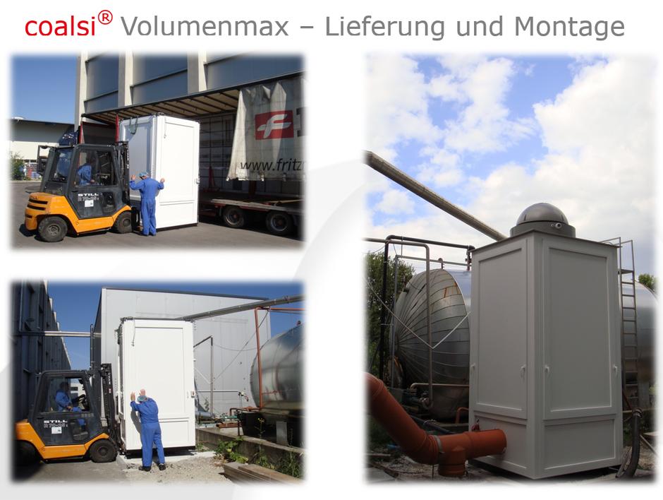 Volumenmax Aktivkolefilter Lieferung und Montage
