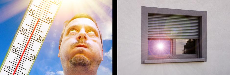 Sonnenschutz Rolladen Hitze Schwitzen