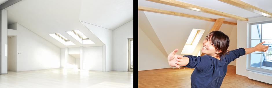 Innenausbau Boden Decke Fenster