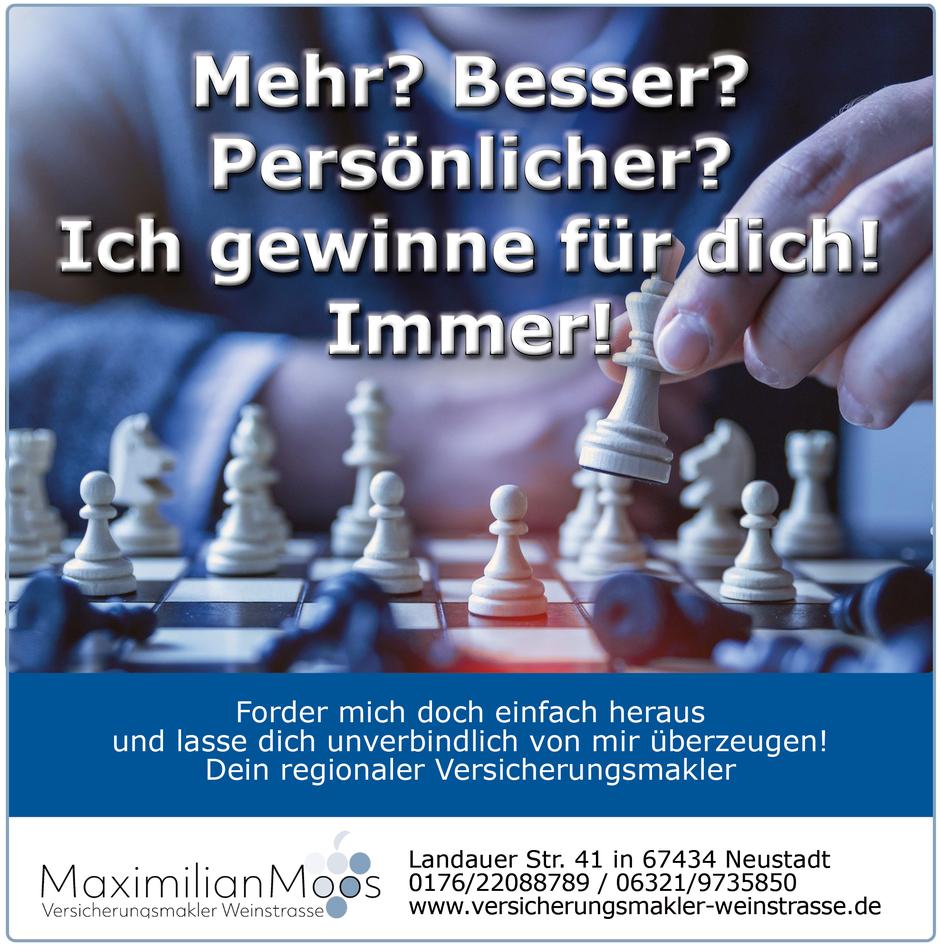 Post Maximilian Moos Versicherungsmakler Weinstraße Neukundengewinnung 112020
