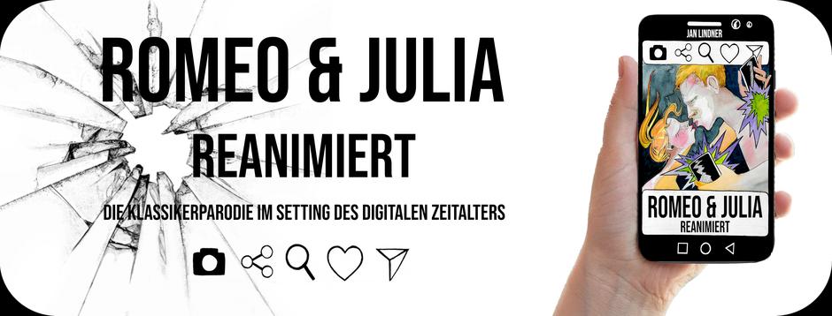"""Banner zum Buch """"Romeo & Julia"""": Reanimiert mit Link zu Amazon"""