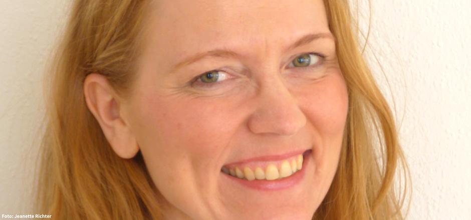 Barbara Dondrup von Routenwechsel lächelt. Glücksgefühle.