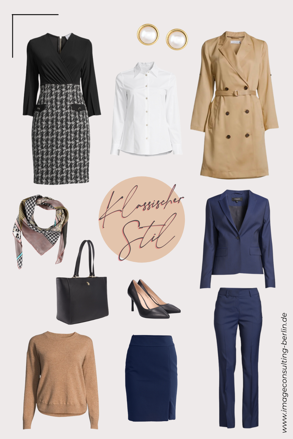 Capsule Wardrobe Grundgarderobe für den klassischen eleganten Stiltyp Damen