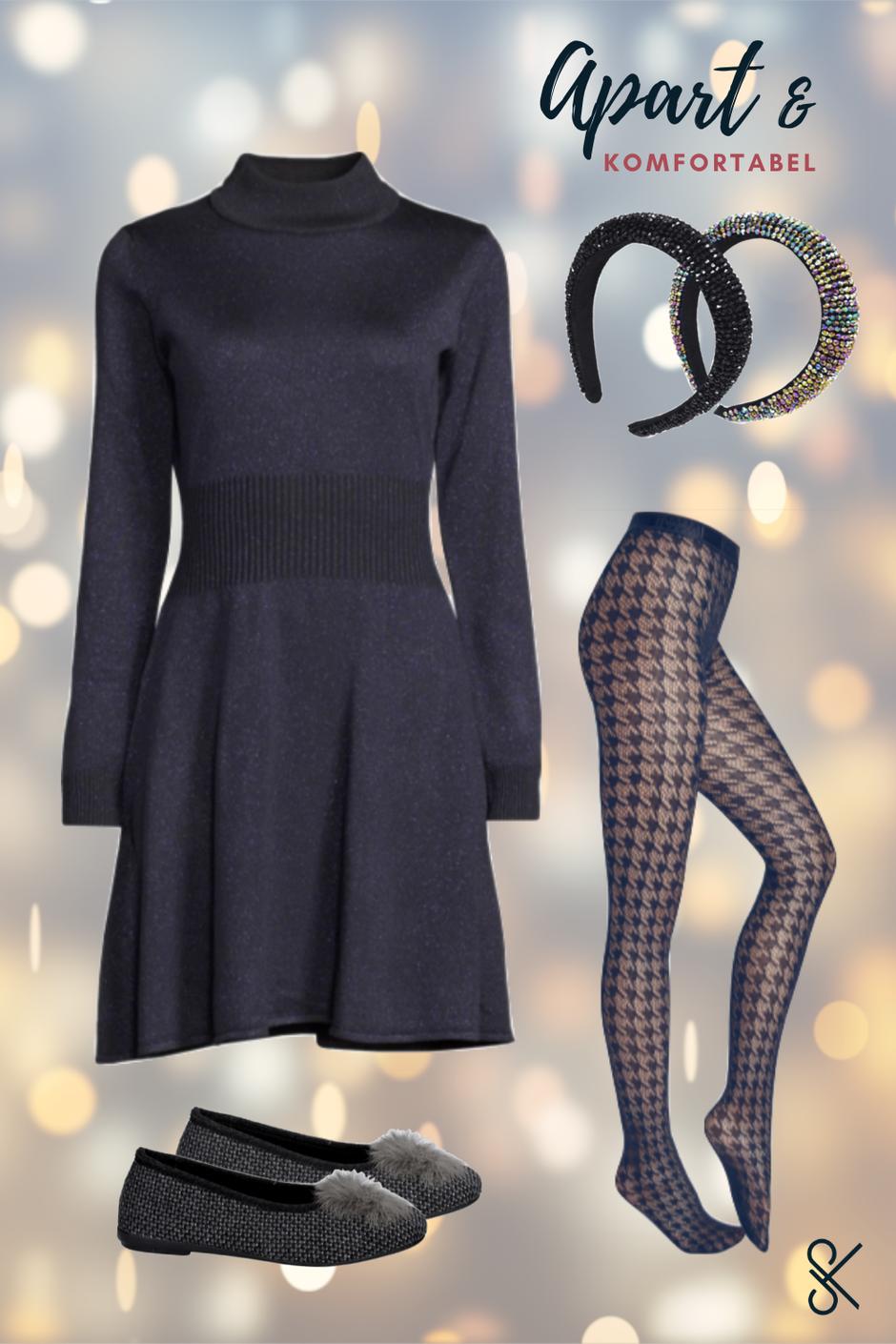 Festliches Kleid für Weihnachts-Outfit