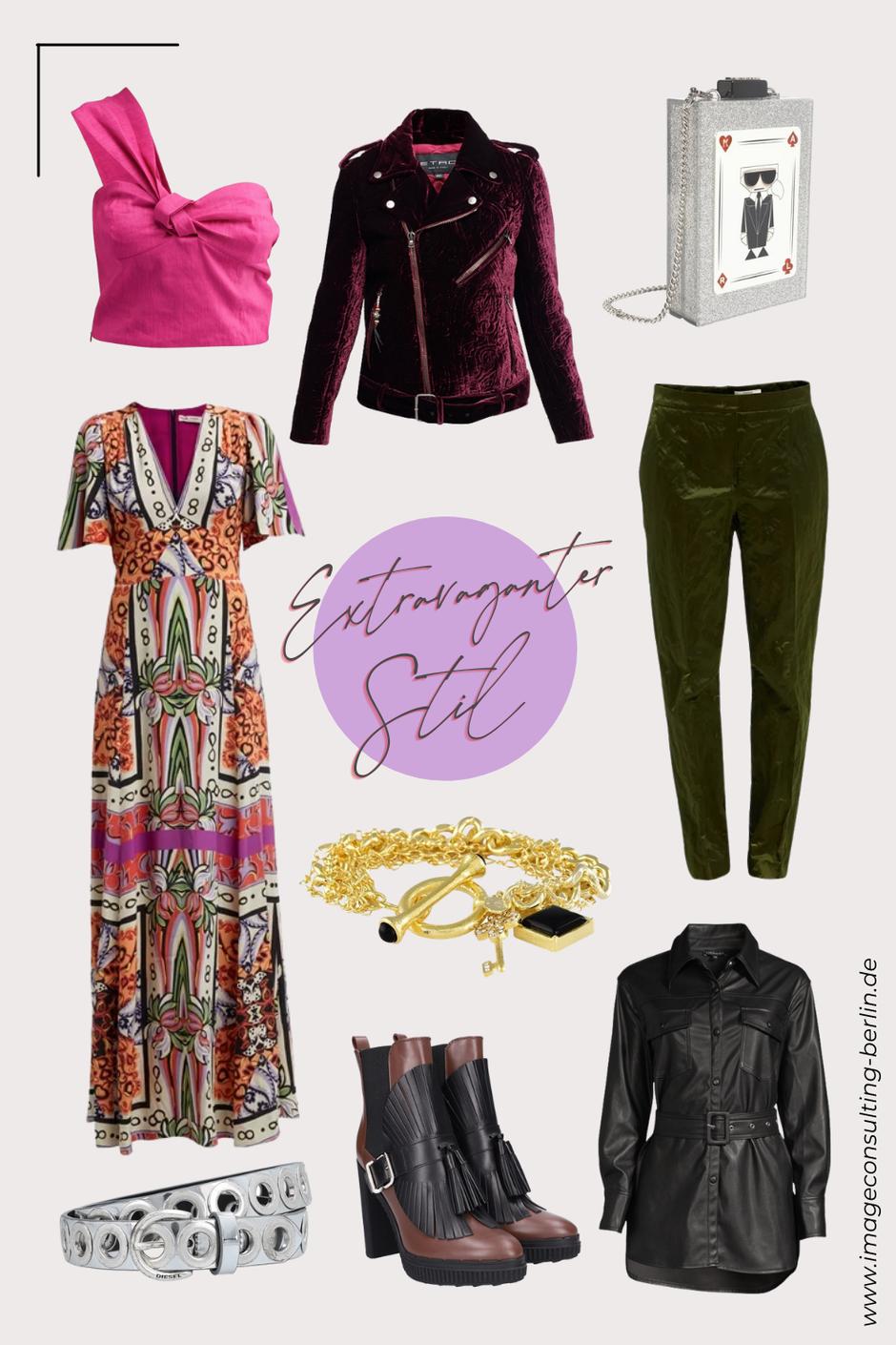 Capsule Wardrobe für extravagante Frauen, Grundgarderobe eklektischer Stil