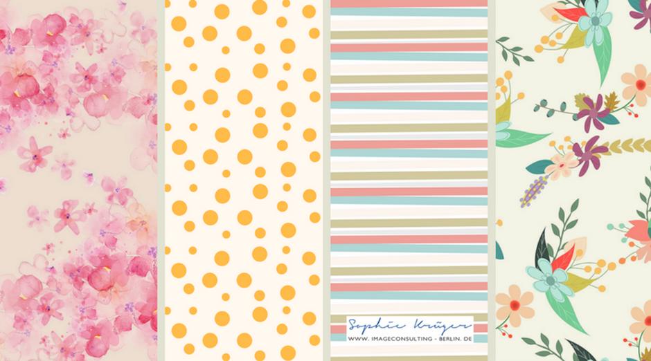 leichte, zarte Muster passen zum Frühlingstyp, empfohlen durch Sophie Krüger - Stilberatung Berlin