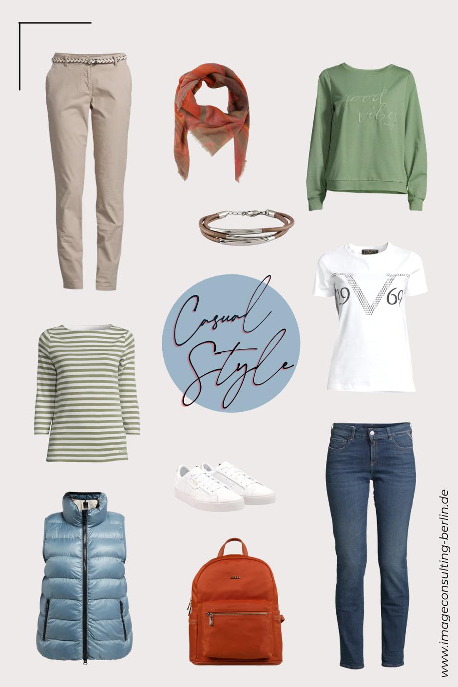 Capsule Wardrobe für Damen und Frauen, die den sportlichen Stil lieben