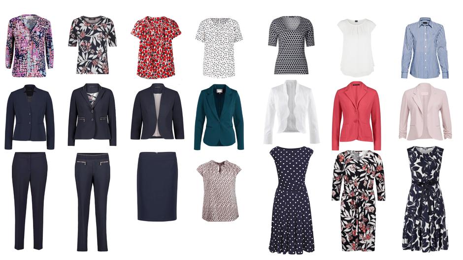 Business Capsule Wardrobe Frühling, Sommer, Herbst