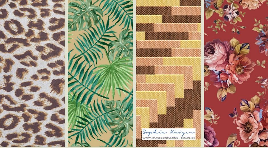 natürliche, geerdete Muster passen zum Herbsttyp, empfohlen durch Sophie Krüger - Stilberatung Berlin