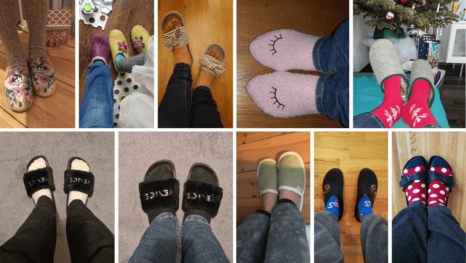 Hausschuh-Fotos meiner Newsletter-Abonnentinnen, vielen Dank!