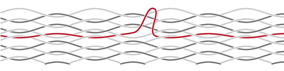 チェアーハンモックの糸が伸びた際の修理方法2