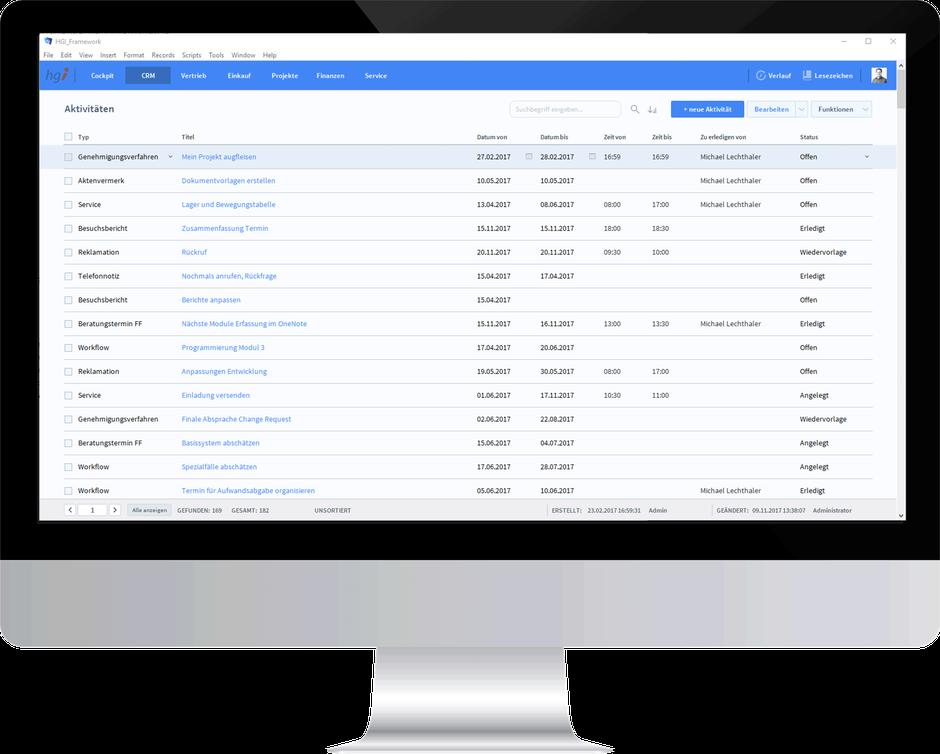 Aktivitäten und Tickets einfach verarbeiten - mit OfficeAssistant CRM