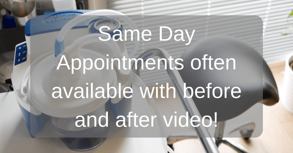 same day ear wax removal appointments