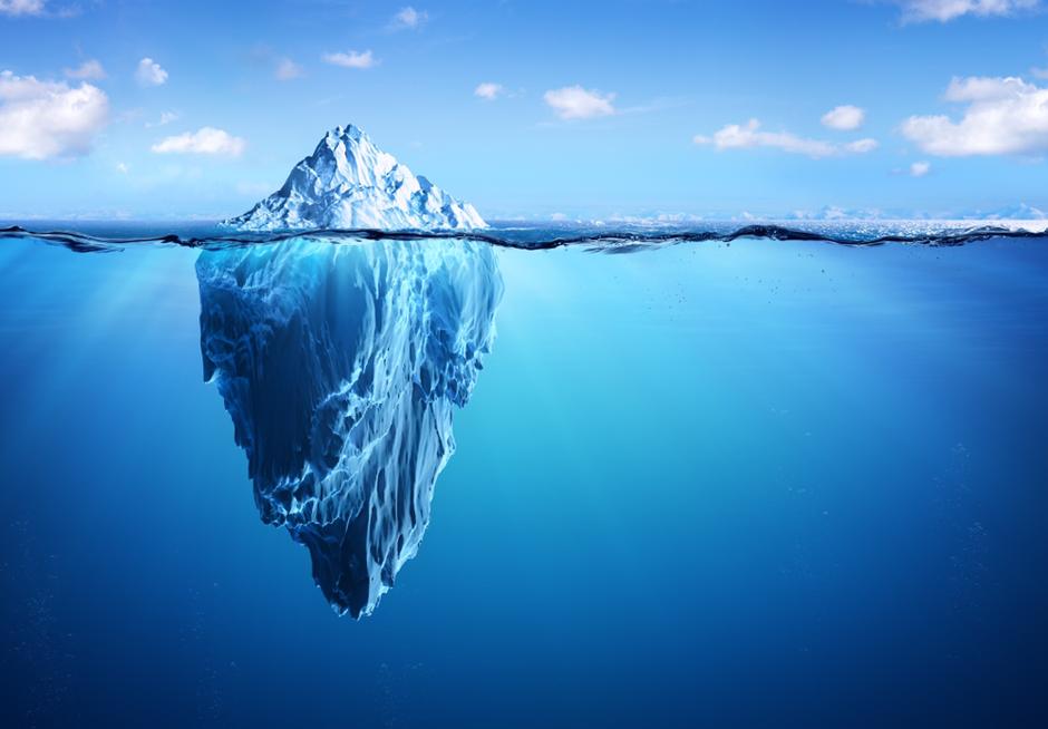 Eisberg Bewusstsein Unterbewusstsein