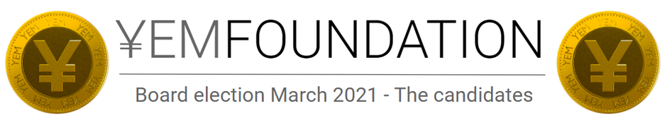 YEM Foundation Board election March 2021 - The candidates