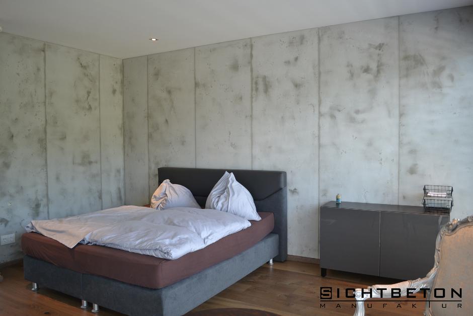 Sichtbeton Schlafzimmer in Villach, Kärnten