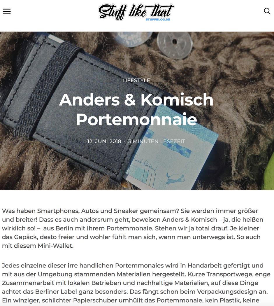 A&K MINI Portemonnaie in schwarz/schwarz - Blogbeitrag von Stuffblog
