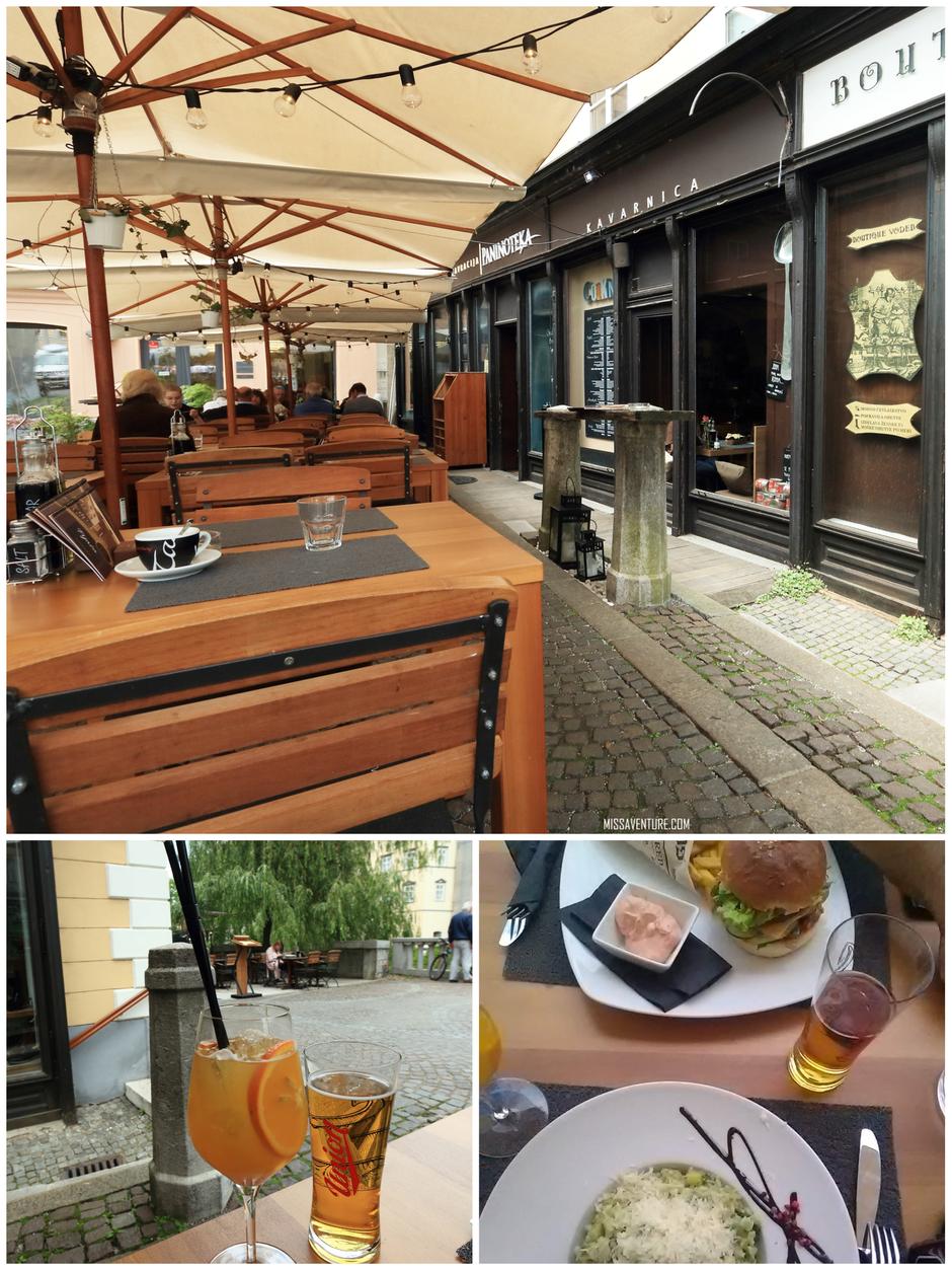 """Petit repas au """"Paninoteka"""", dans le centre historique."""