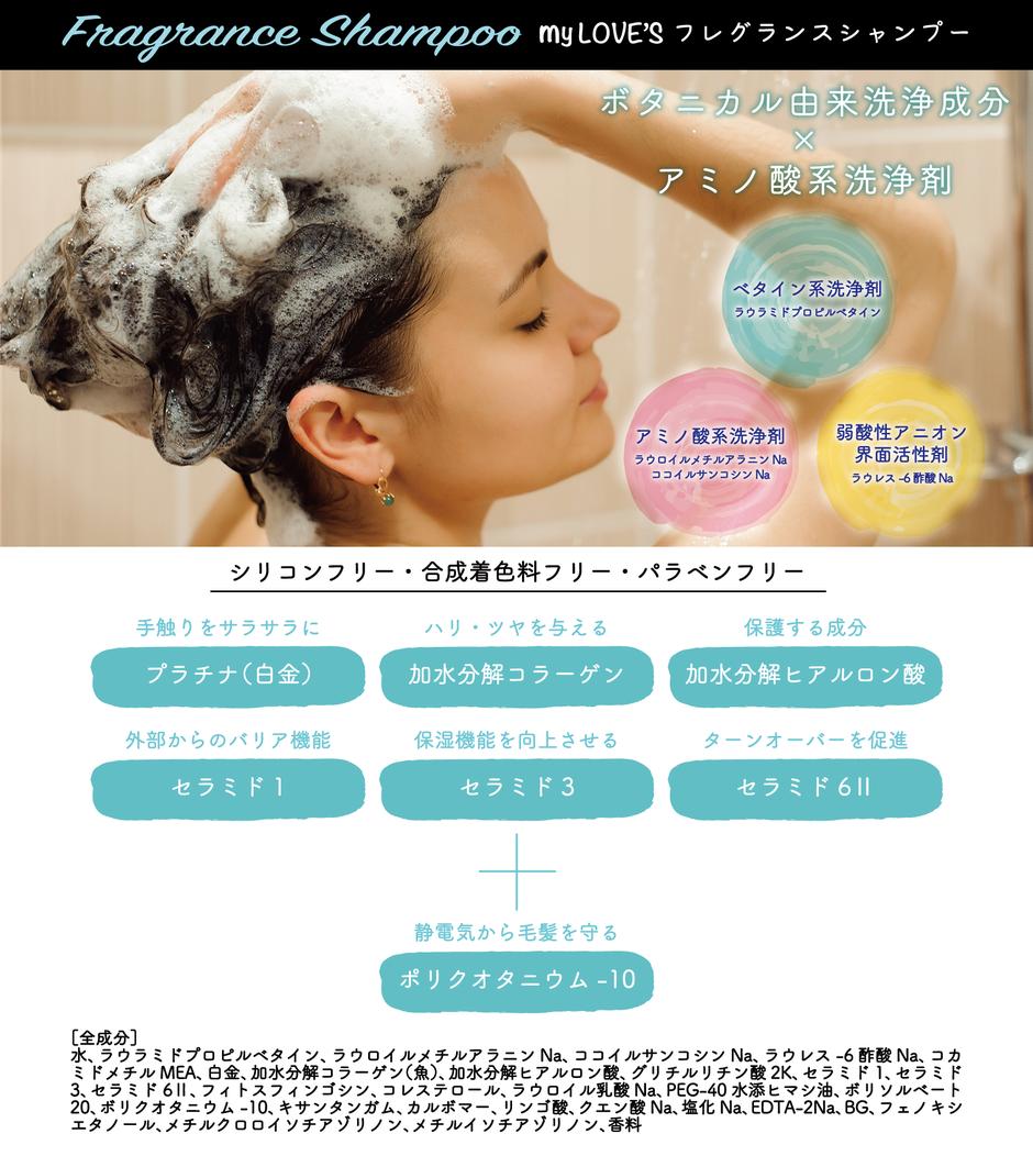 マイラヴァーズ ボタニカル フレグランス シャンプー ボタニカル由来洗浄成分×アミノ酸系洗浄剤