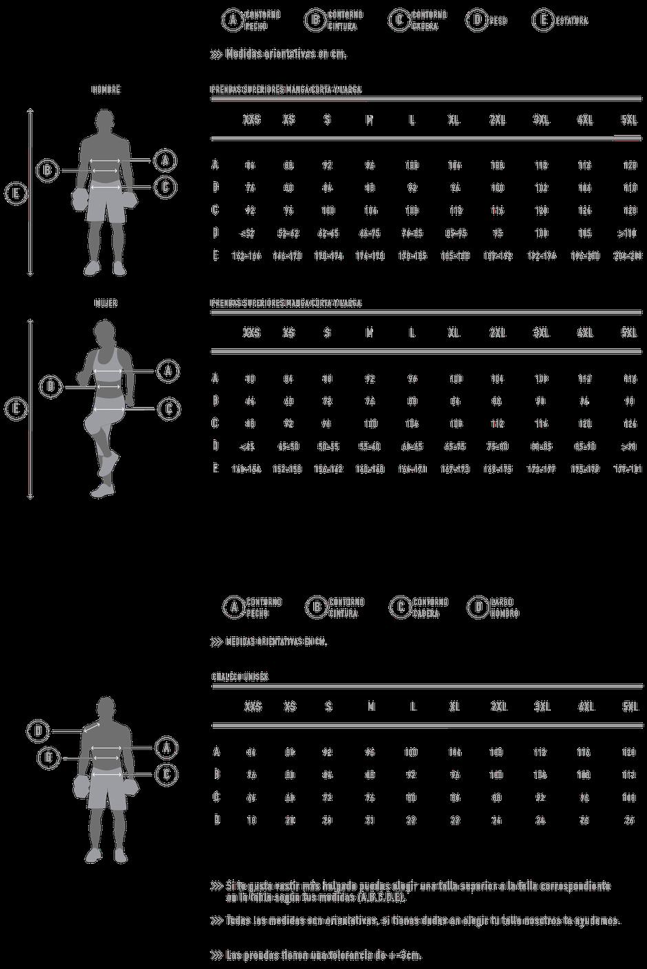 Guía de tallas MAYUK