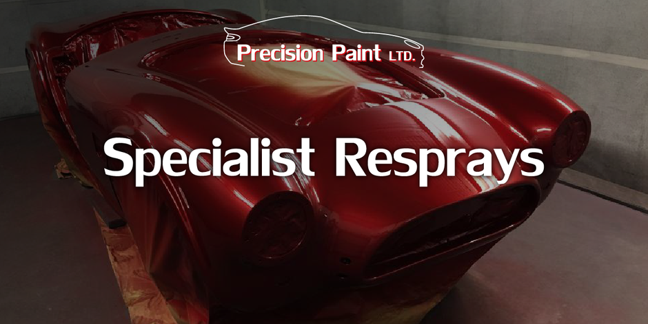 Specialist Car Body Re-Sprays Intro Graphic with Cobra, Precision Paint, Wellington, Somerset